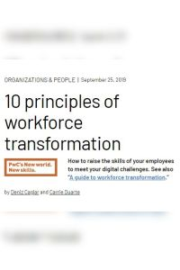 10 Principles of Workforce Transformation summary