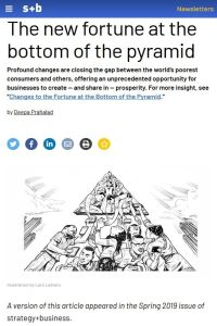 The New Fortune at the Bottom of the Pyramid summary