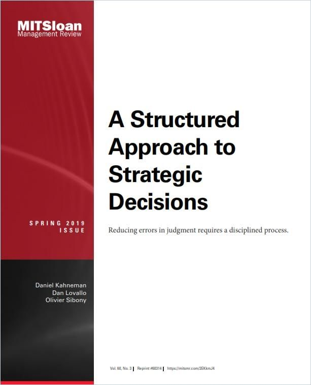 Image of: A Structured Approach to Strategic Decisions