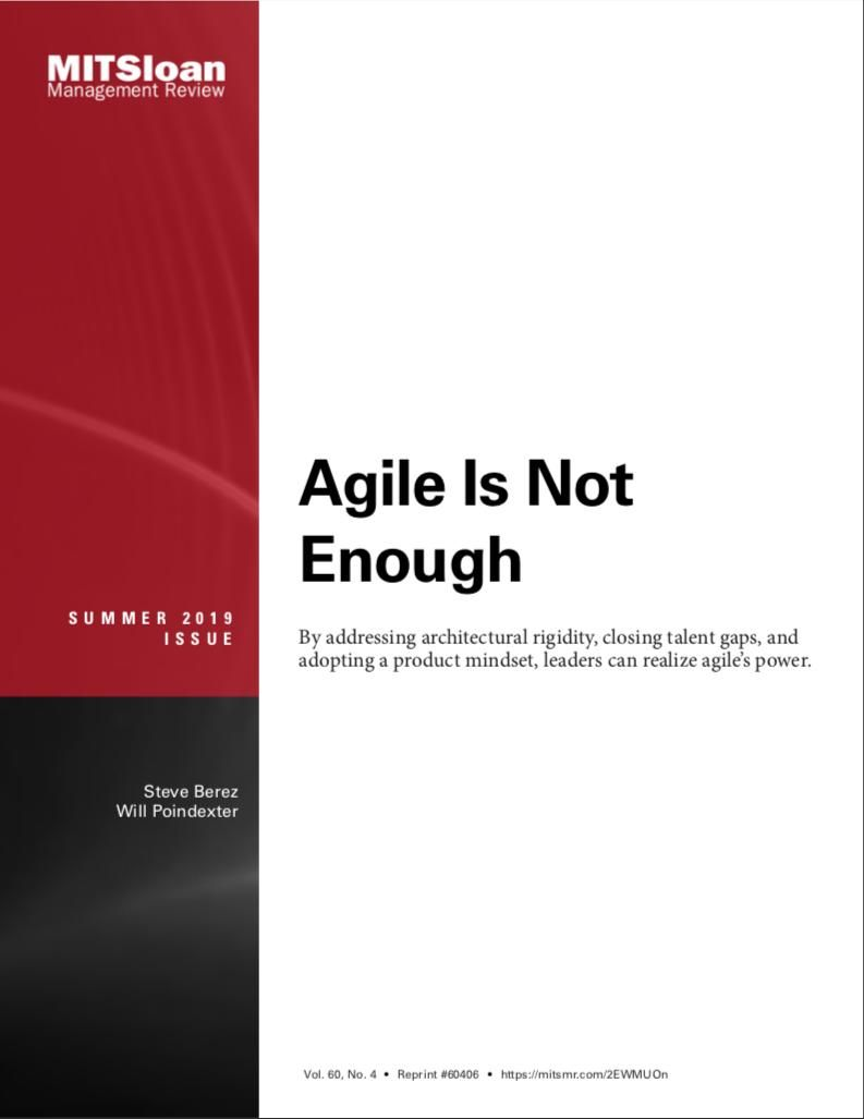 Image of: Agile Is Not Enough