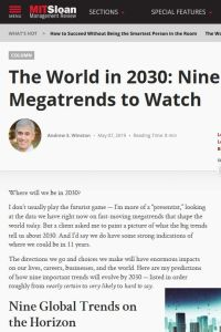 The World in 2030 summary