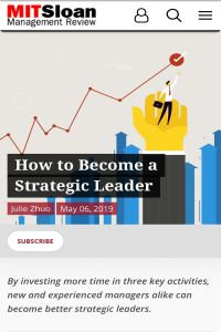How to Become a Strategic Leader summary
