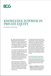 Knowledge Is Power in Private Equity summary