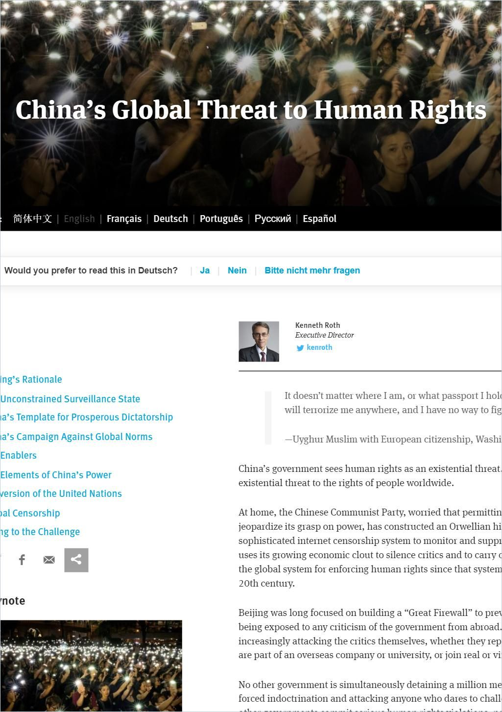 Image of: China's Global Threat to Human Rights