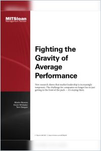 Fighting the Gravity of Average Performance summary