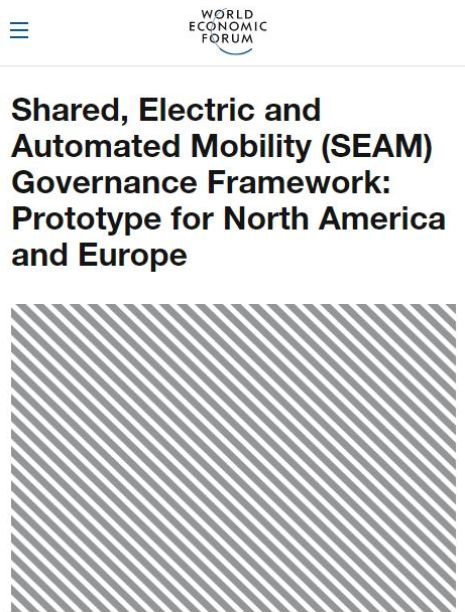 Image of: Shared, Electric and Automated Mobility (SEAM) Governance Framework