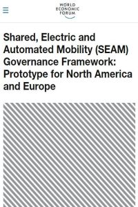 Shared, Electric and Automated Mobility (SEAM) Governance Framework summary