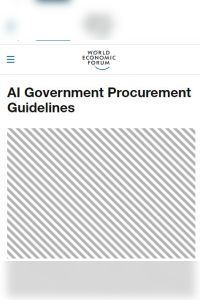 AI Government Procurement Guidelines summary