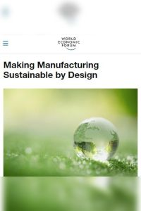 Making Manufacturing Sustainable by Design summary