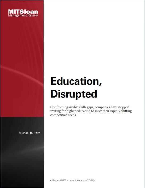 Image of: Education, Disrupted