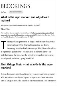 What is the repo market, and why does it matter? summary