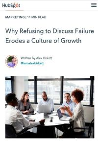 Why Refusing to Discuss Failure Erodes a Culture of Growth summary