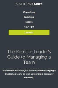 The Remote Leader's Guide to Managing a Team summary