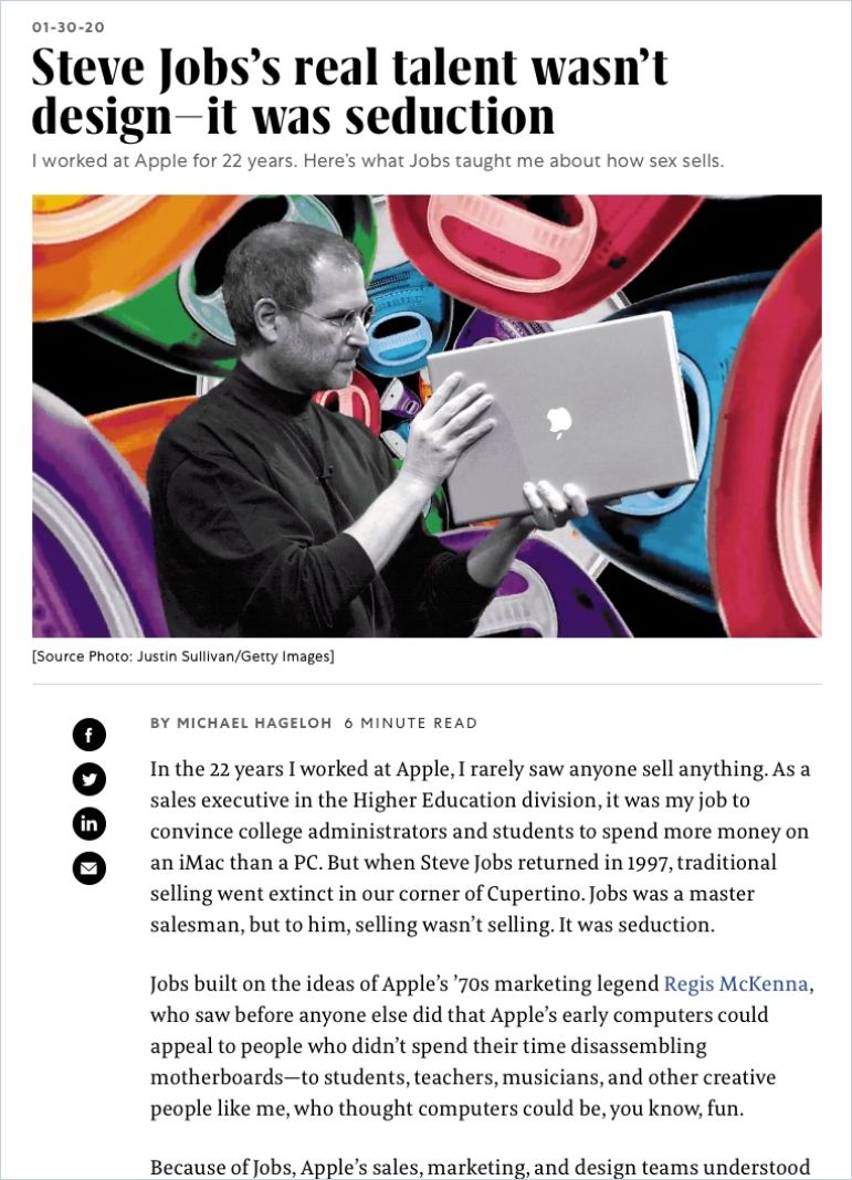 Image of: Steve Jobs's Real Talent Wasn't Design – It Was Seduction
