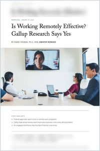 Is Working Remotely Effective? Gallup Research Says Yes summary