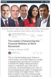 The Leaders Championing the Financial Wellness at Work Movement summary