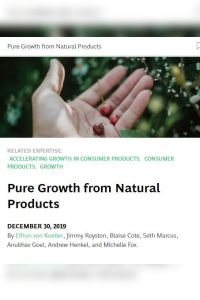 Pure Growth from Natural Products summary