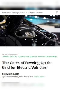 The Costs of Revving Up the Grid for Electric Vehicles summary