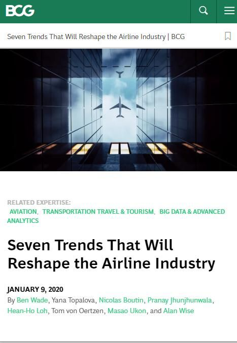 Image of: Seven Trends That Will Reshape the Airline Industry