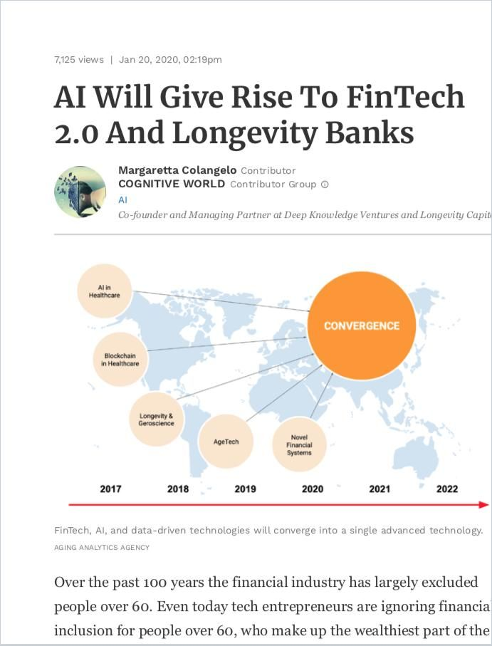 Image of: AI Will Give Rise to FinTech 2.0 and Longevity Banks