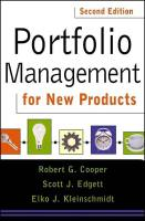 Portfolio Management for New Products book summary
