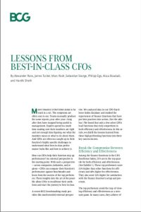 Lessons from Best-In-Class CFOs summary