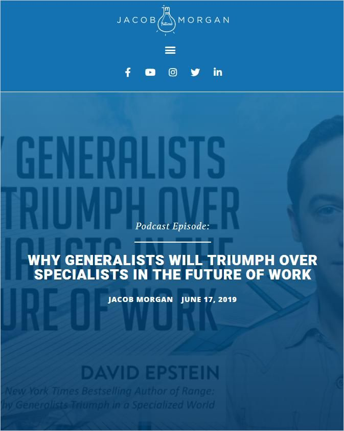 Image of: Why Generalists Will Triumph Over Specialists in The Future of Work