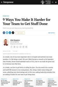 9 Ways You Make It Harder for Your Team to Get Stuff Done summary