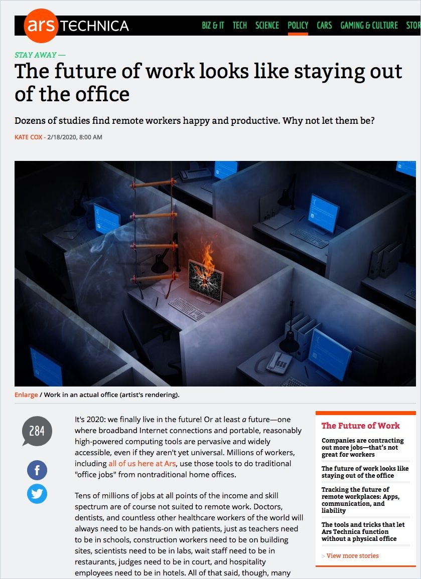 Image of: The Future of Work Looks Like Staying Out of the Office