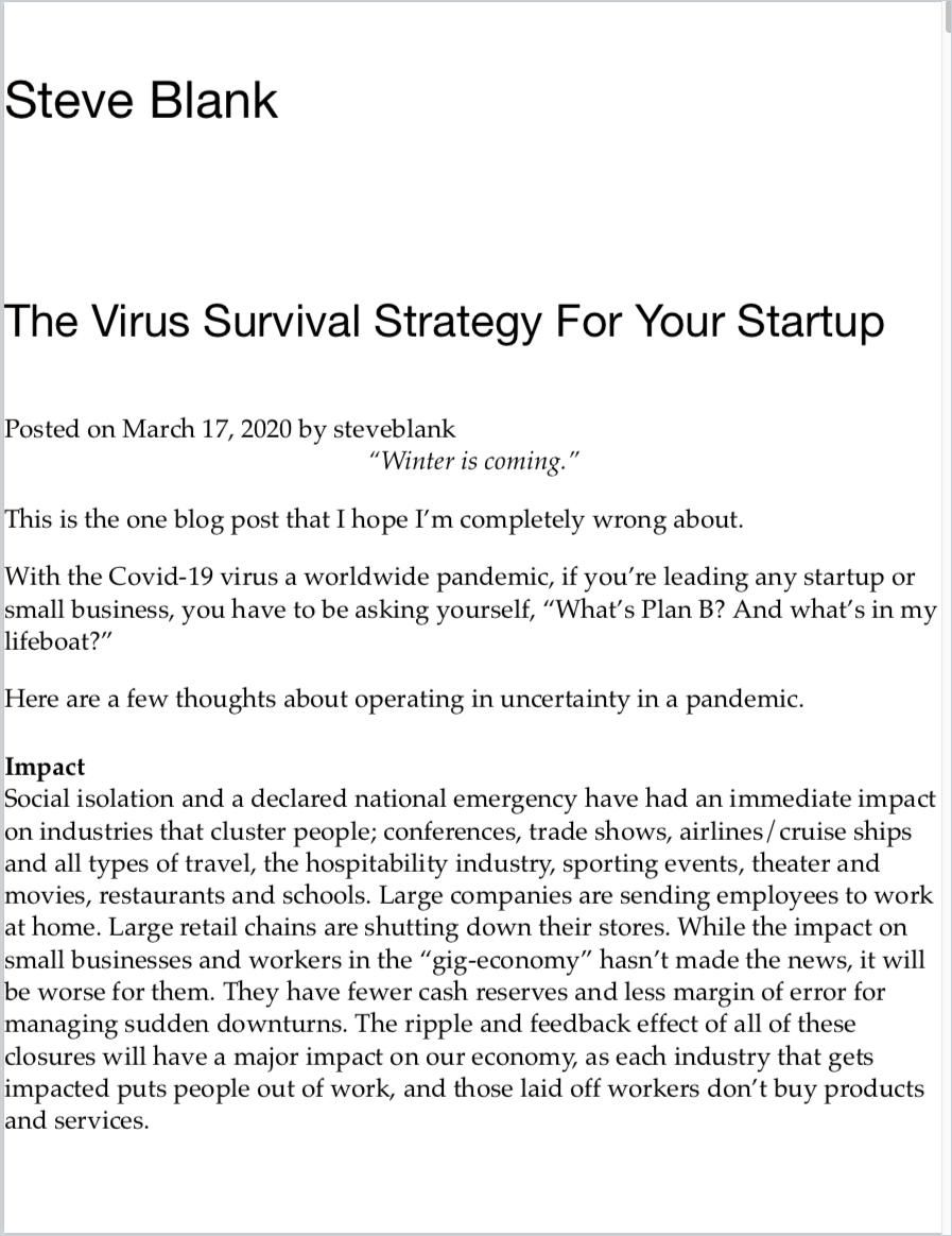 Image of: The Virus Survival Strategy For Your Startup