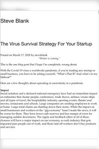 The Virus Survival Strategy For Your Startup summary