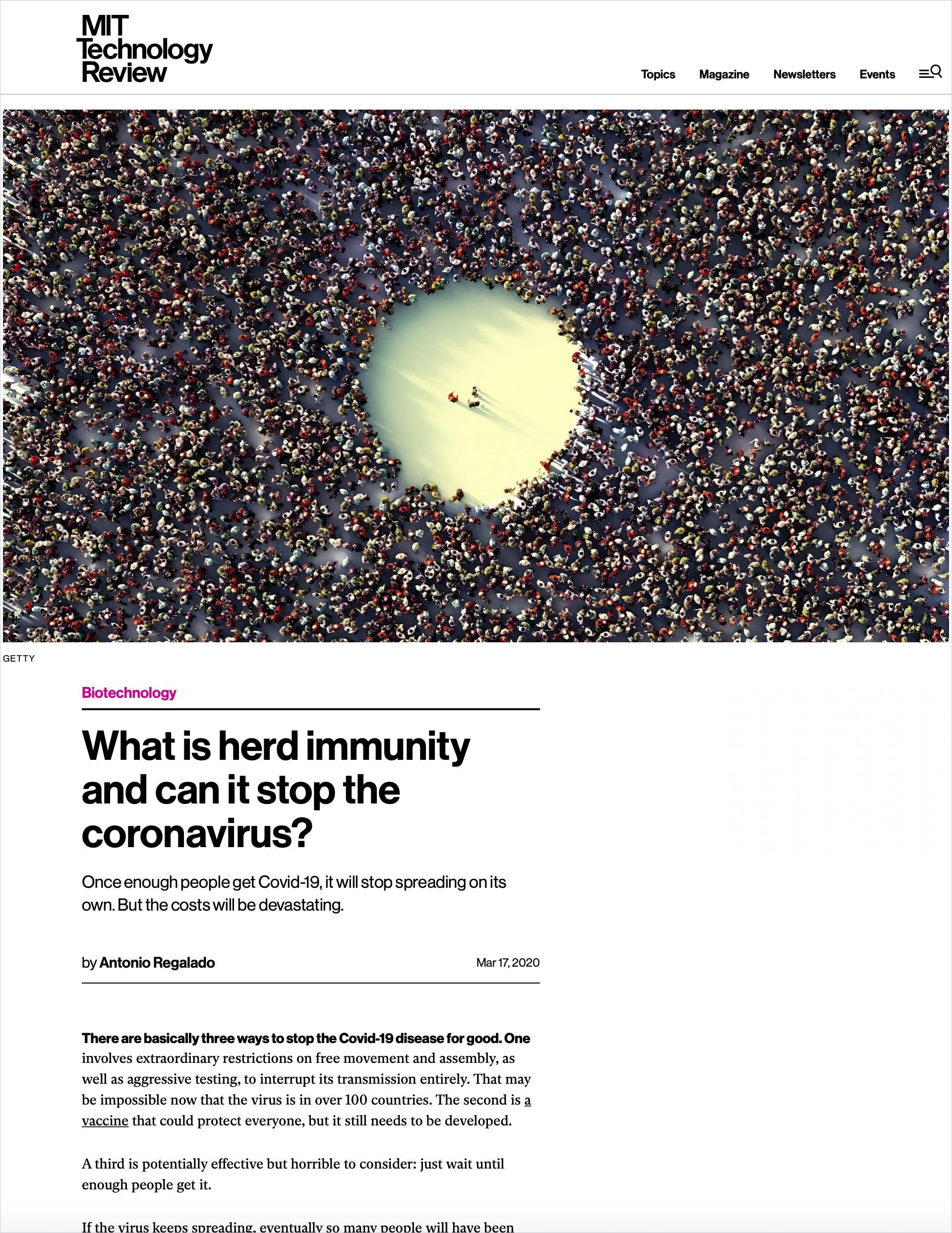 Image of: What Is Herd Immunity and Can It Stop the Coronavirus?
