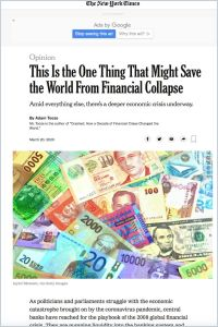 This Is the One Thing That Might Save the World From Financial Collapse summary