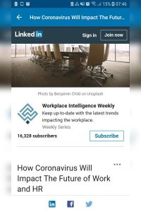 How Coronavirus Will Impact the Future of Work and HR summary