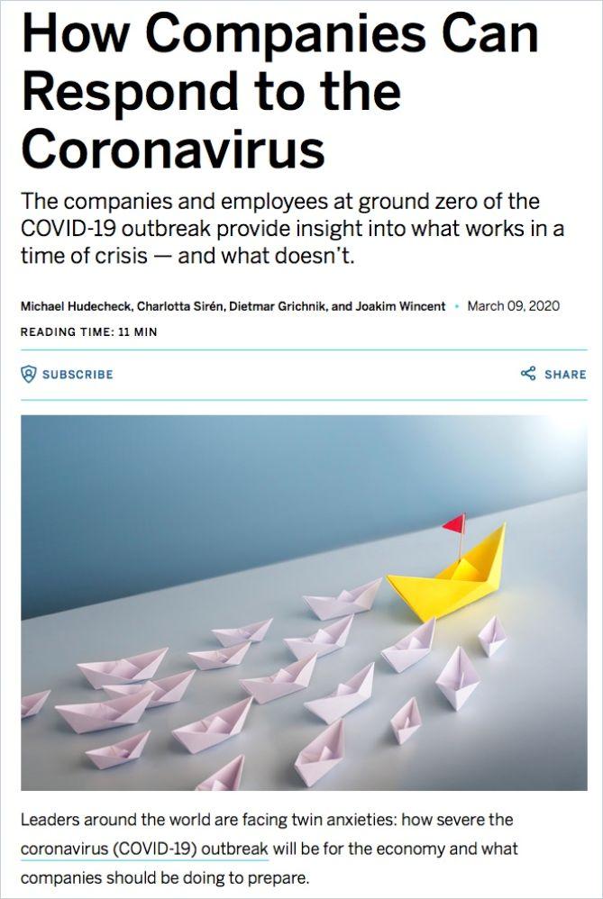 Image of: Wie Unternehmen auf die Coronavirus-Krise reagieren können