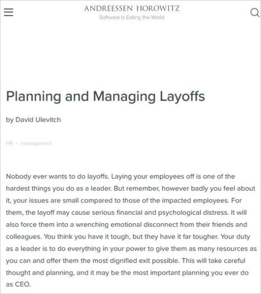 Image of: Planning and Managing Layoffs