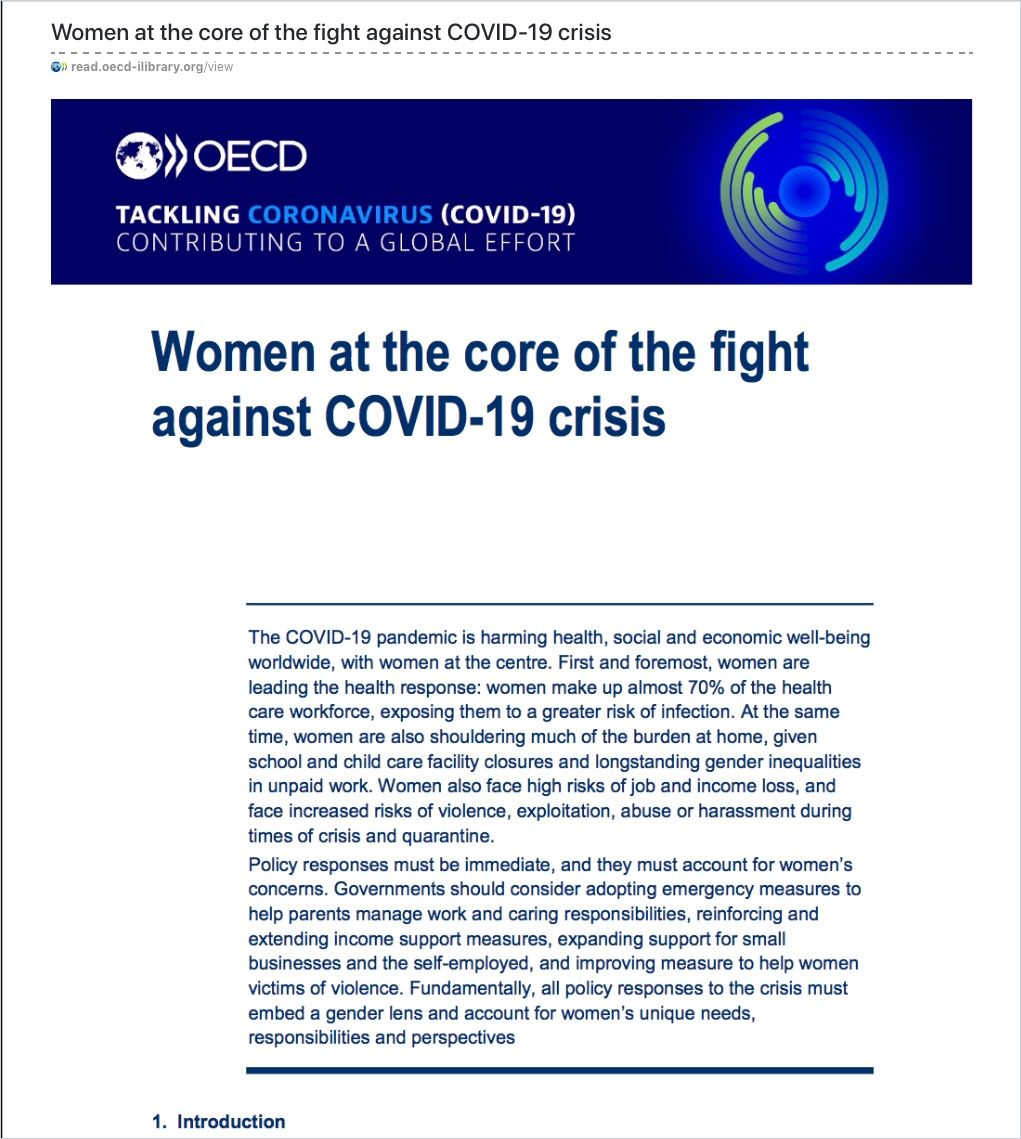 Image of: Women at the Core of the Fight Against COVID-19 Crisis