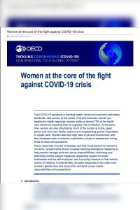Women at the Core of the Fight Against COVID-19 Crisis summary