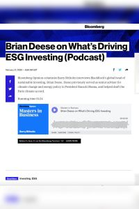 Brian Deese on What's Driving ESG Investing summary