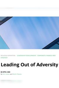 Leading Out of Adversity summary