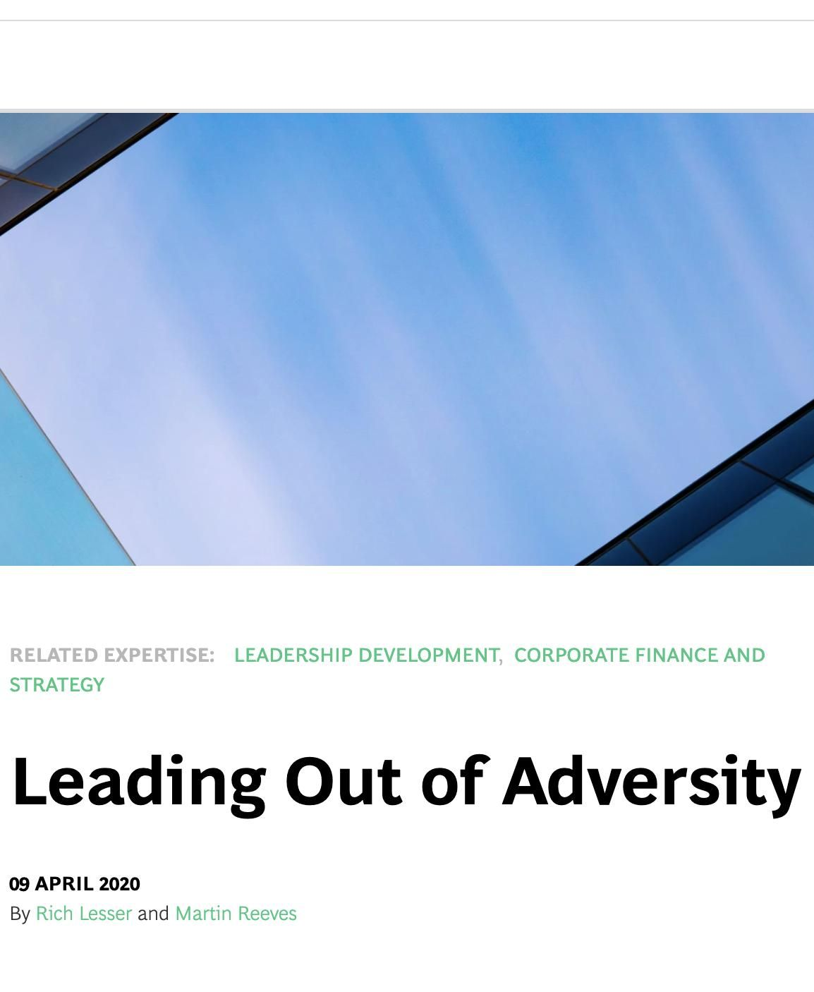 Image of: Leading Out of Adversity