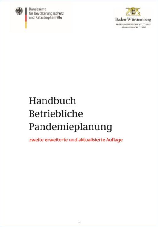 Image of: Handbuch Betriebliche Pandemieplanung