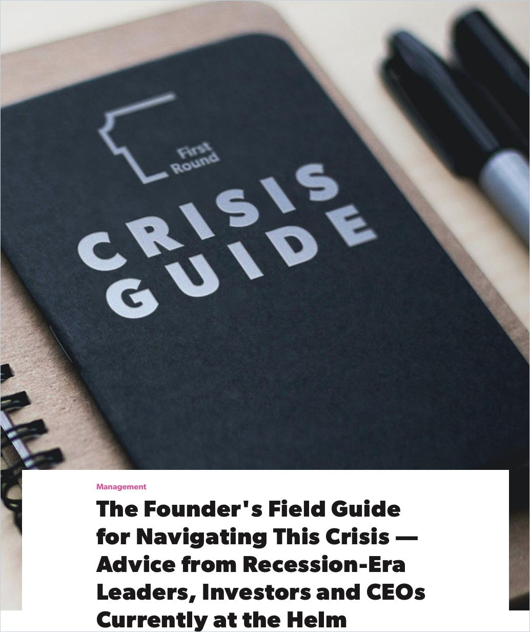 Image of: The Founder's Field Guide for Navigating This Crisis