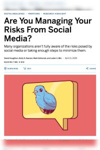 Are You Managing Your Risks from Social Media? summary