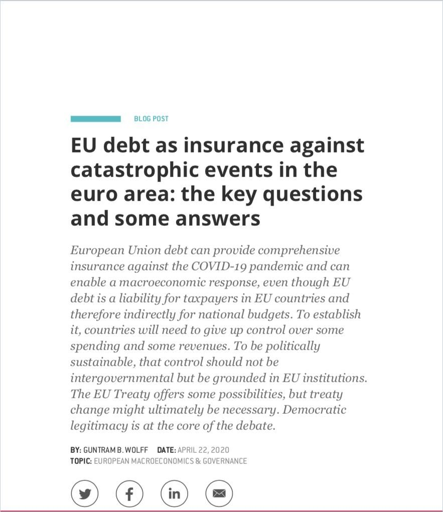 Image of: EU Debt as Insurance Against Catastrophic Events in the Euro Area