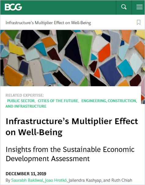 Image of: Infrastructure's Multiplier Effect on Well-Being