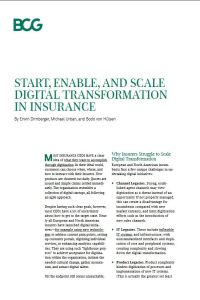 Start, Enable, and Scale Digital Transformation in Insurance summary