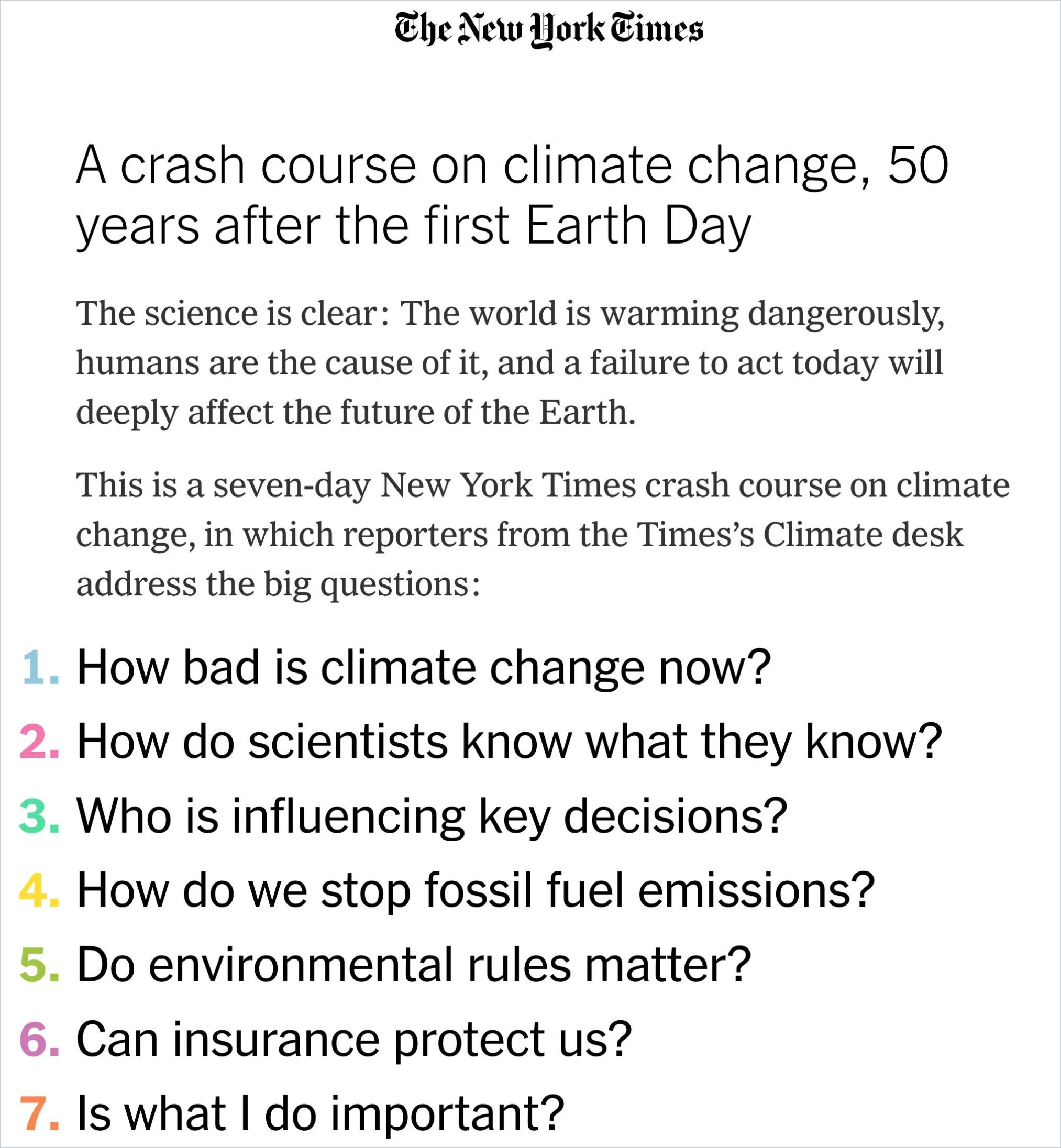 Image of: A Crash Course on Climate Change