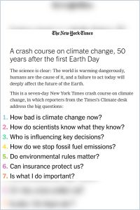 A Crash Course on Climate Change summary