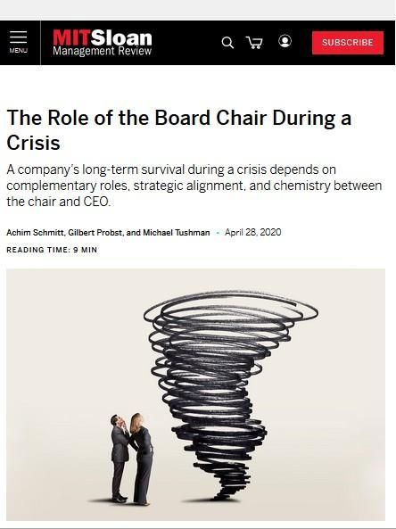 Image of: The Role of the Board Chair During a Crisis